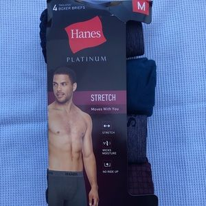 Men's 4-pk platinum stretch boxers